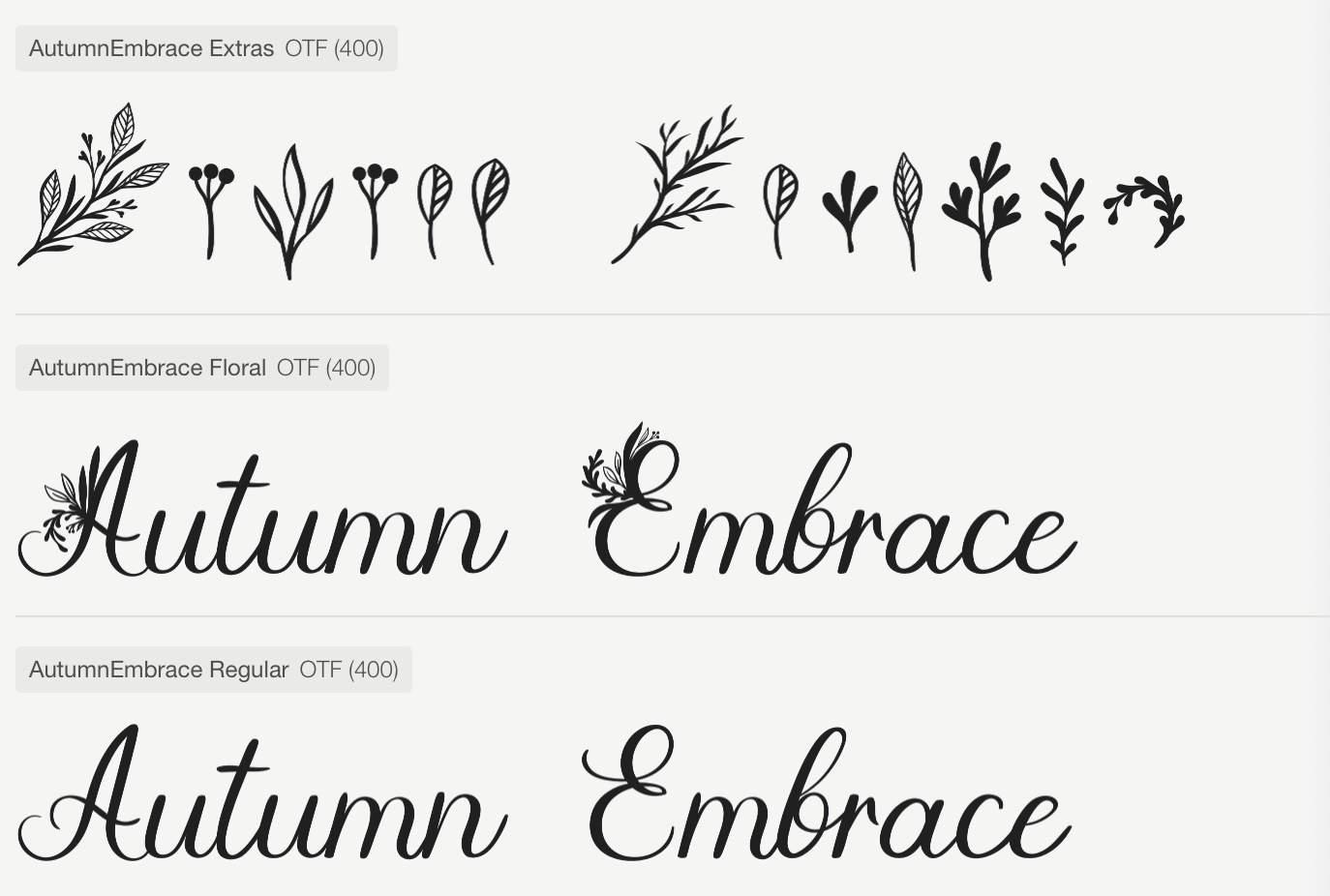 Autumn Embrace Font