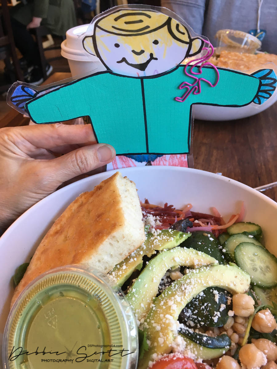 Flat Stanley at Lunch