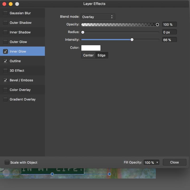 Step 17 Inner Glow Settings