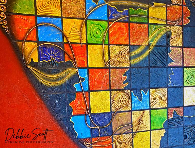 Abstract Buddha